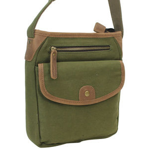 Vintage Cotton Canvas Shoulder Bag CS12GRN